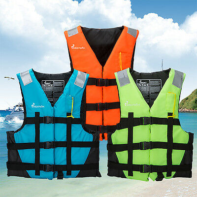 New Adult Surfing Life Jacket Kids Swimming Boating Ski Foam Vest Whistle 7714HC