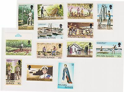 (K32-2) 1977 Pitcairn Islands 13set definitive stamps 1c to $2 MUH