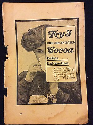 Antique Advertisement - Fry's Cocoa - Defies Exhaustion!