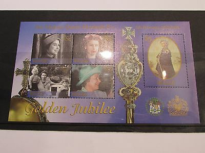 2002 Belize Golden Jubille Minature Sheet MNH