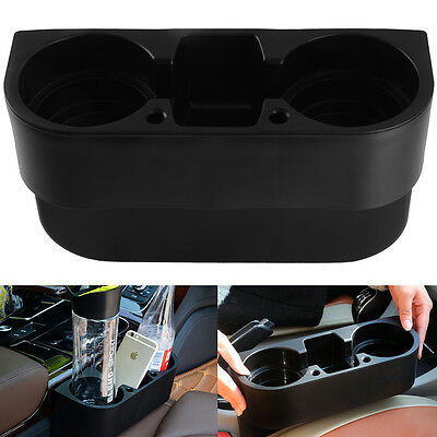 New Universal In Car Drinking Bottle Cup Holder Stand Black Mug Mount Storage