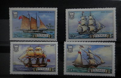TUVALU 1986 BOAT SHIP stamps SET - MNH - VF - r3b748