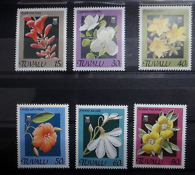 TUVALU 1990 FLOWERS stamps SET - MNH - VF - r3b738