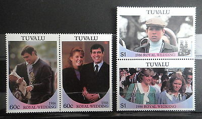 TUVALU 1986 ROYAL WEDDING PRINCESS DIANA stamps SET - MNH - VF - r3b751
