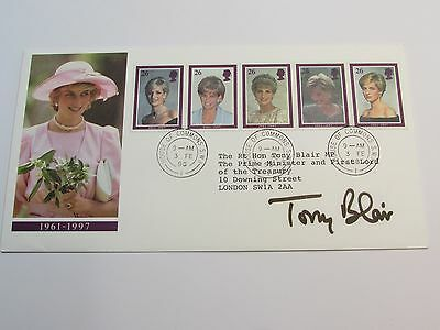 1998 Princess Diana Commemoration F.D.C SIGNED TONY BLAIR