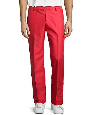 "New J. LINDEBERG Men's Troyan Reg Mirco Twill Golf Pants, size 33"", Red coral"