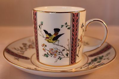 Coalport Bird Of Paradise Coffee Can Cup & Saucer Limited Edition #1550/15000
