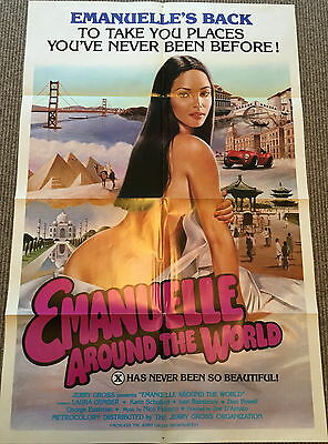 Emmanuelle Around The World US One Sheet (1980) ORIGINAL FILM MOVIE POSTER