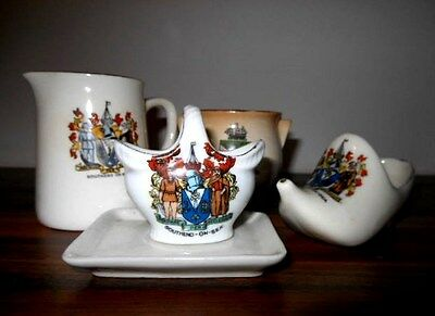 Southend on Sea crested china (4 items)  (incl Carlton ware)
