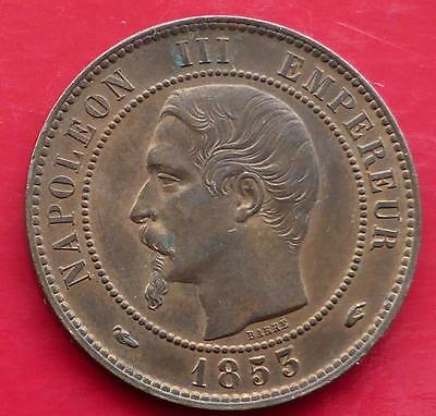 1853 A Ten Centimes Coin From France  / Superb