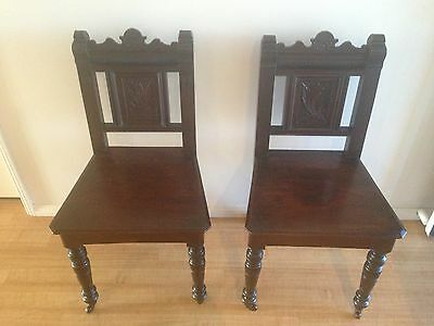 Antique Wooden Chairs Dining Occasional Wood Seat Chair