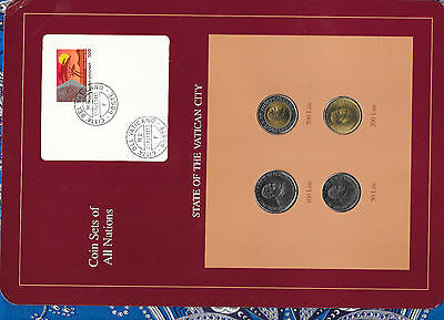 Coin Sets of All Nations Vatican UNC all 1989 500, 200, 100, 50 Lire