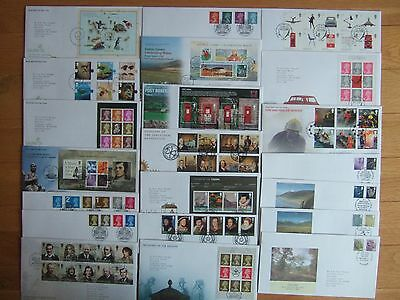 GREAT BRITAIN 2009 21 x DIFFERENT FIRST DAY COVERS SETS & MINIATURE SHEETS