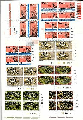 SOUTH AFRICA 9 x MINT NEVER HINGED BLOCKS 0F 4