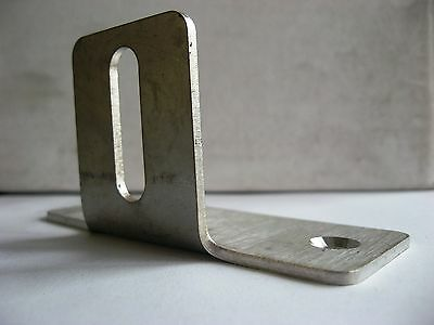 T Bracket Stainless Steel 90 Degree set of four (4) 100mm x 40mm 2.5mm thick