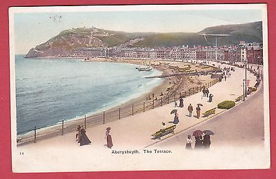Vintage Post Card of Aberystwyth - 1904 - The Terrace.