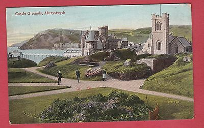 Vintage Post Card of Aberystwyth - 1912 - Castle Grounds.