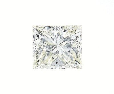 0.48 Cts Natural Loose Fancy Color Diamond GIA F. Light Yellow VS1 Princess Cut