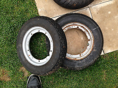 2 Vespa rims and new michelin s83 tyres 350 x 10