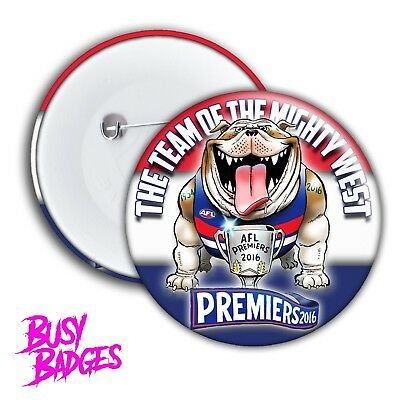 Western Bulldogs Badge - Premiership Grand Final Premiers - RARE 2016 Footscray