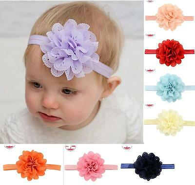 Baby Girls Hairband Flower Hairband Soft Elastic Band Headband Hair Accessories