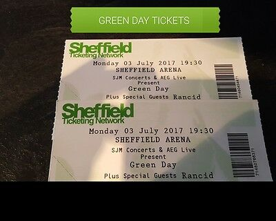 Green Day Tickets Sheffield Arena 3Rd July