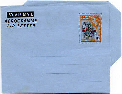 "Ghana, Air Letter / Aerogramme, Kessler 3, H&G3, watermark ""K"", unused"