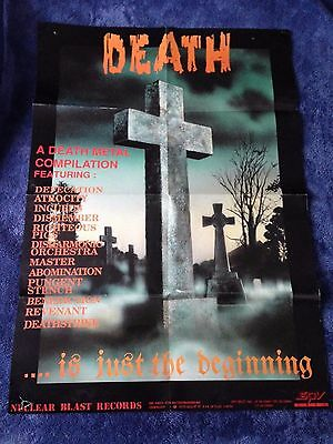 VARIOUS ARTISTS - Death Is Just The Beginning POSTER (84cm x 59cm) Nuclear Blast