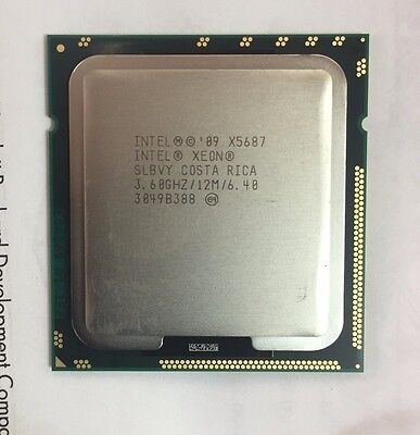Intel Xeon X5687 3.6GHz Quad Core LGA1366 CPU 638137-001 - 90 Days RTB Warranty