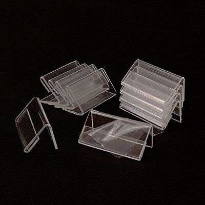 50 Pcs Mini Sign Display Holder Price Card Tag Label Counter Top Stand 4cm X 2cm