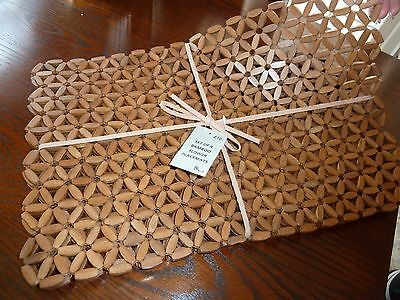 set of 4 bamboo / wooden  table mats -BHS
