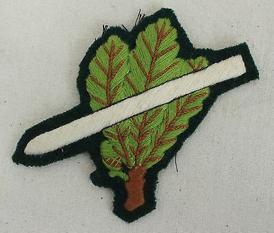 Jager leaves with Skis - WW2 Repro German Cap Hat Badge Patch Military Army A382
