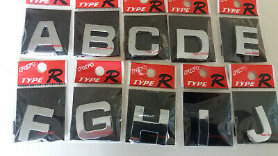*65p EACH *   3D SELF ADHESIVE CAR CHROME LETTERS +  NUMBERS,   *2 for £1.30 *