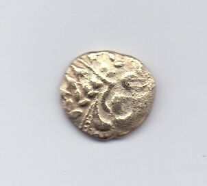 """English Celtic Silver/Gold Stater. """"Chute"""" type, 65 BC."""