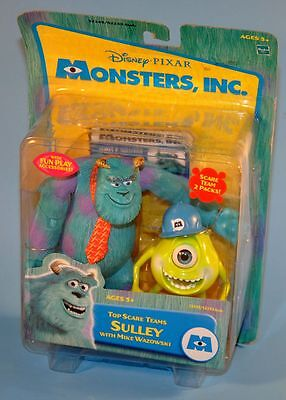 2002 Disney Pixar Monsters Inc MIKE & SULLEY Top Scare Team Action Figure Toy