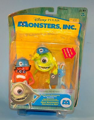 2002 Disney Pixar Monsters Inc MIKE Fungus Ray Top Scare Assistants Figure Toy
