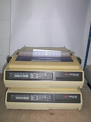 2 x OKI MICROLINE 395 24 Pin Dot Matrix Monochrome Ink Ribbon Printers *incVAT*