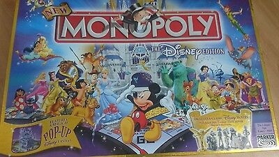 monopoly disney edition with pop up board and golden tinkerbell