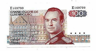 Luxembourg (P57a) 100 Mark 1980 VF+