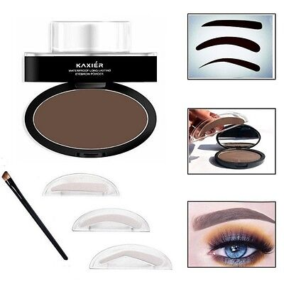 KAXIER Brow Stamp Eyebrow Powder Set Makeup Brush Waterproof Long Lasting Cosmet