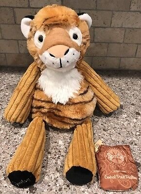 """Scentsy Buddy Tucker the Tiger Plush Large 15"""" Central Park Pralines Scent Pak"""