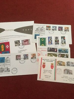 Job Lot Of First Day Covers Malta
