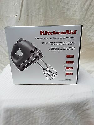 KitchenAid  hand mixer 9 speed 4 interchangeable beaters