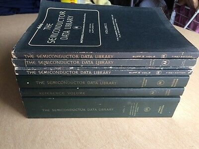 Vintage The Semiconductor Data Library Motorola 8 Volumes Set  1972-73