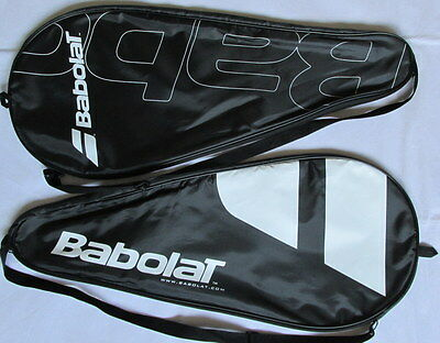A Pair Of Babolat Lightweight Tennis Racket Covers / Adjustable Strap F6/2206