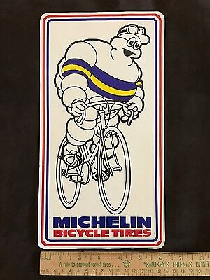 Vintage Michelin Bicycle Tires Decal Sticker 12 inches by 6 inches Unused