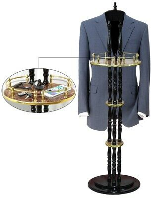 """New Uniquewise Extra Tall Espresso Wooden Valet Stand, 54"""" Tall, QI003249"""