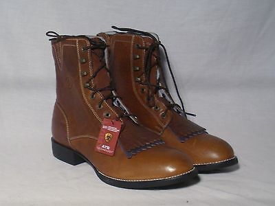 New Ariat Heritage Lacer II Brown Western Lace Up boots Women's Sze 9B