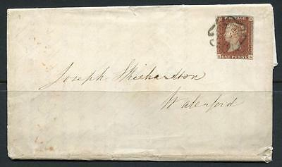 GB 1842 1d Red Imperf Plate 11 from Black plate. Double letter, KA. Irish use