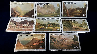 (8) St. Helena Scenic Painting Stamps **1p Through 40p**
